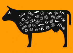 Cow with Company Brands